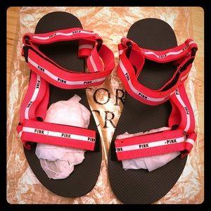 Rare NWT! HOT PINK Victoria's Secret PINK Sandals!